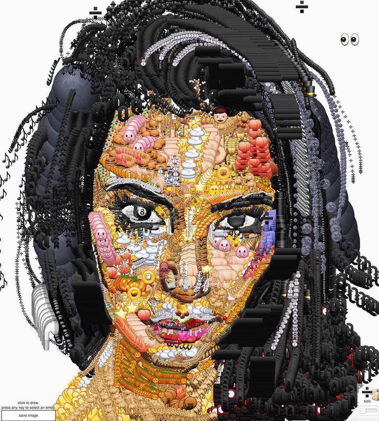 Kim Kardashian Emoji Portrait