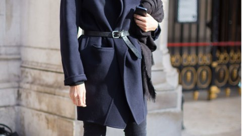 Try This: Belting Your Winter Coat | StyleCaster