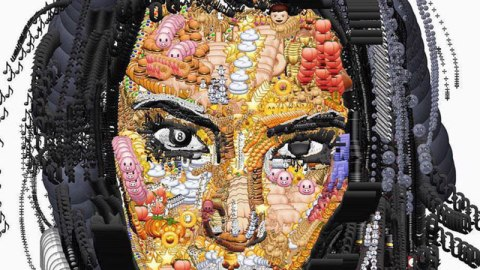 Cool: A Kim K. Portrait Made of Emojis | StyleCaster