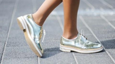 Trending: Metallic Flats | StyleCaster
