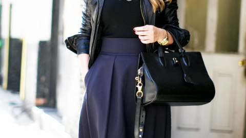 Try This: Pairing Navy and Black | StyleCaster