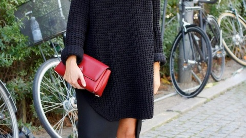 Try This: Big Sweater, Small Skirt | StyleCaster