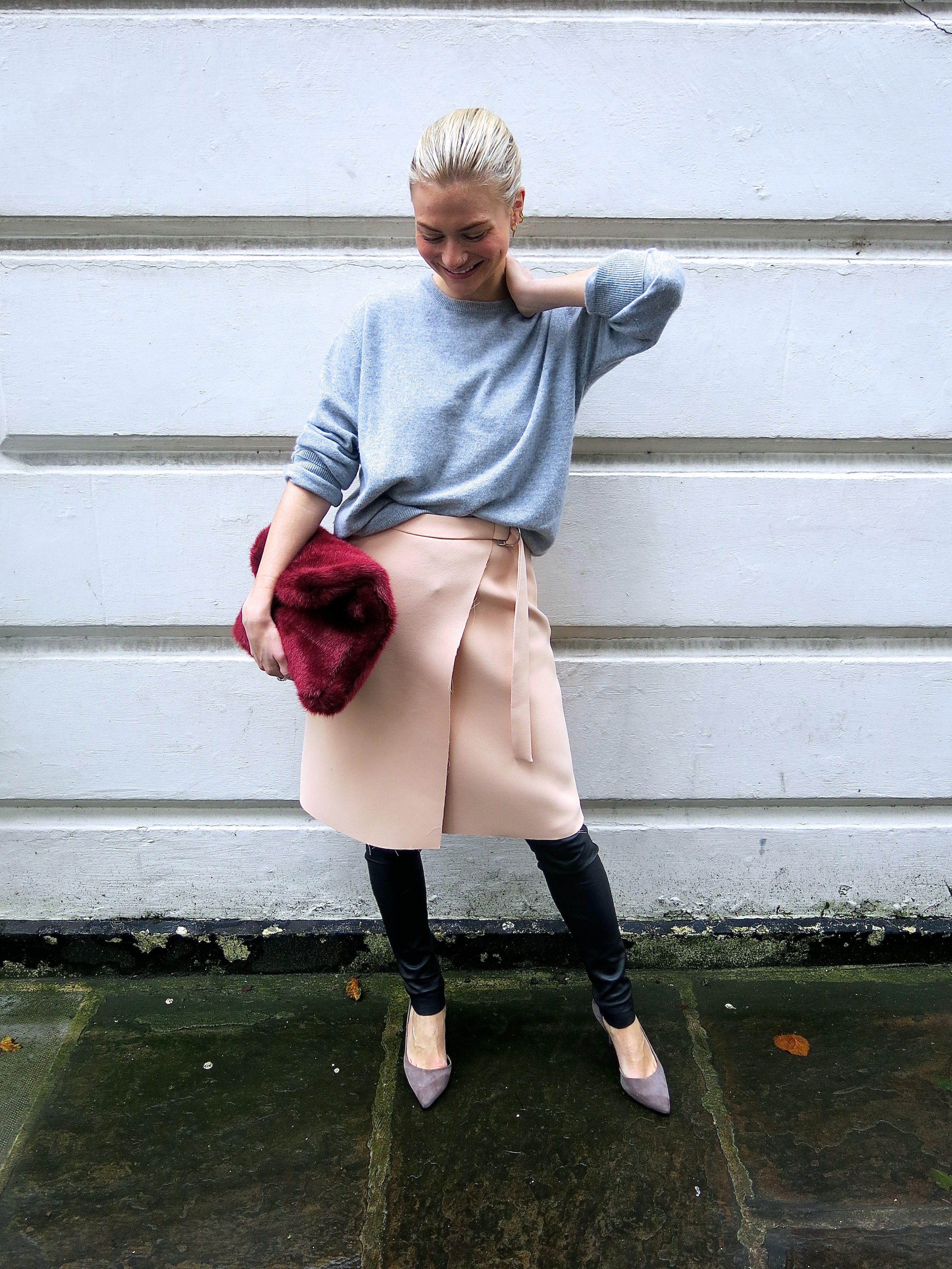 pants under skirt trend