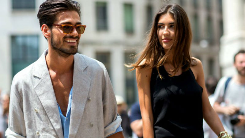 patricia manfield giotto calendoli couple street style milan  6 Reasons Why Love at First Sight is a Dangerous Thing