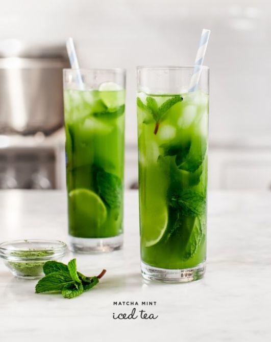 matcha infused iced tea