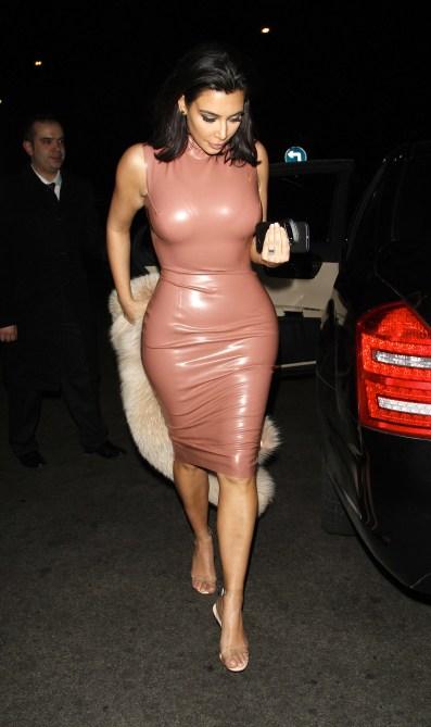 Kim Kardashian pink latex dress atsuko kudo