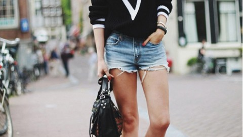 15 Ways to Wear Deep V-Neck Knits | StyleCaster