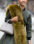 Fur Scarves Are Trending at NYFW