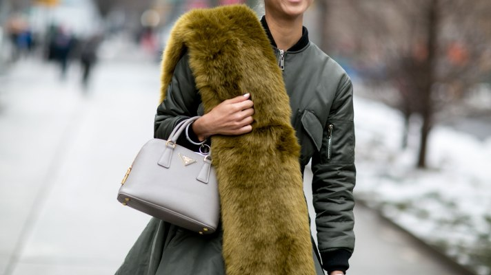 Fur Scarves Are Trending on the Streets of Fashion Week
