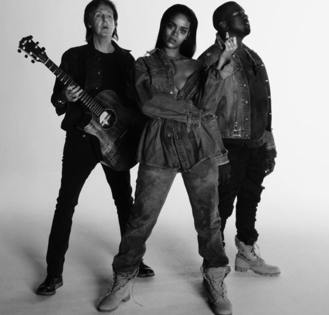 Watch Rihanna, Kanye, and Paul McCartney's 'FourFiveSeconds' Video Clip