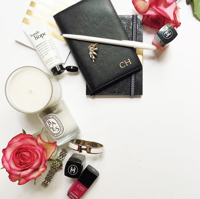 Monogrammed and Minimalist Leather Accessories