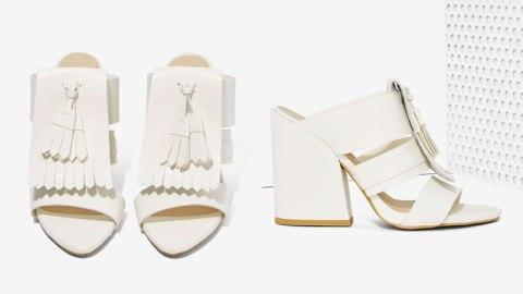 Ed's Pick: White Fringed Mules | StyleCaster