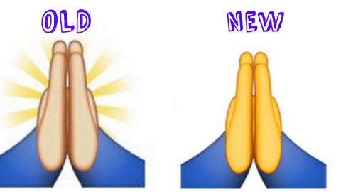 WTF: The Prayer Hands Emoji is No More   StyleCaster