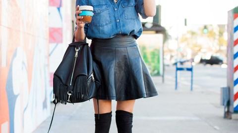 20 Killer Leather Skirt Looks | StyleCaster