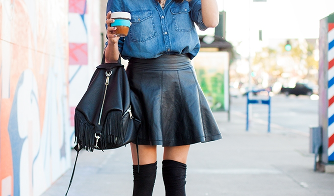 20 Badass Leather Skirt Looks to Copy This Spring