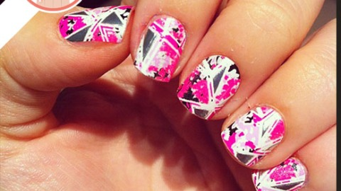 Tuesday's #NailCall: Splatter Paint and Holographic Nail Polish | StyleCaster