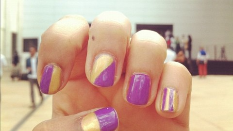 Tuesday's #NailCall: Sparkles, Stripes and Everything Nice | StyleCaster