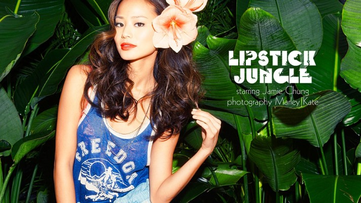 Jamie Chung Shows Off Spring's Hottest Lip Colors and Reveals Her Best Skin Care Tips