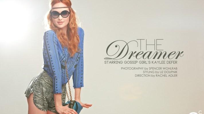 "Gossip Girl's Kaylee DeFer Stars In Exclusive Editorial ""The Dreamer"""