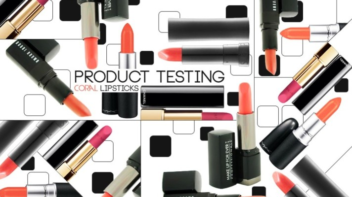 Product Testing: 5 Of Our Favorite Coral Lipsticks