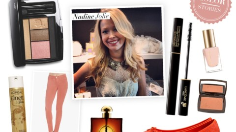 Color Stories: Beauty Expert Nadine Jolie Shows Her Love For Peach Opulence | StyleCaster