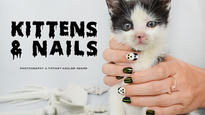 Halloween Nail Art, Plus Kittens: Learn These Designs with a Dose of Cute