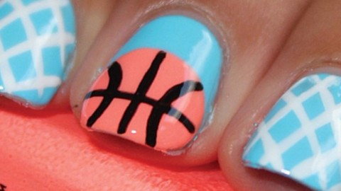 March Madness Manicures: Nail Art to Help You Cheer On Your Team | StyleCaster