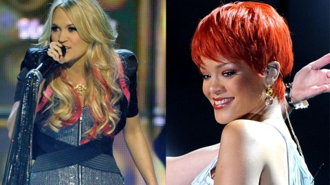 Rihanna Vs. Carrie Underwood: Who Does Colored Hair Best? | StyleCaster