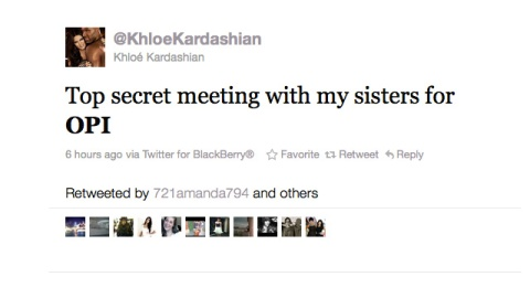 A Kardashian's Tweet Sets OPI Trending   StyleCaster