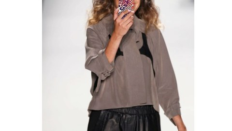 NYFW SS 2012: Rebecca Minkoff Finds the Right Stripe   StyleCaster