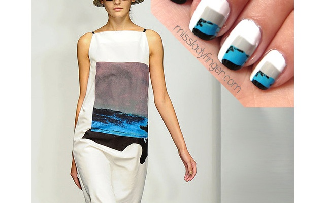 Rachel Comey Inspired Nail Art to DIY