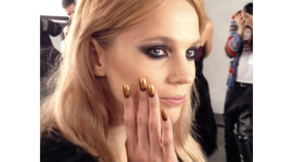 NYFW: The Blonds Rock Helmet Hair & Leather Nails | StyleCaster