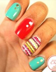 Tuesday's #NailCall: Chevron Nail Art and Matte Manicures