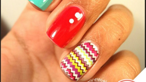 Tuesday's #NailCall: Chevron Nail Art and Matte Manicures | StyleCaster
