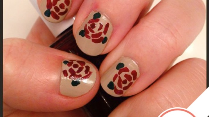 Tuesday's #NailCall: Roses & Gold Foil, Plus Salma Hayek Gives Away Polish!