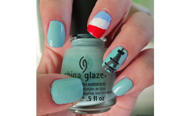 French Themed Nail Art to Celebrate Bastille Day