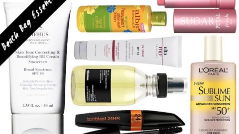10 Beach Bag Beauty Essentials | StyleCaster