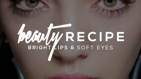 Beauty Recipe: Soft Eyes and a Bright Lip | StyleCaster