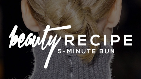 A Bun Hairstyle That Takes Less Than 5 Minutes   StyleCaster