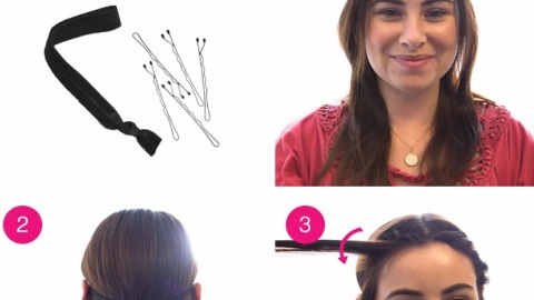 How to Get a Half-Up Headband Roll | StyleCaster