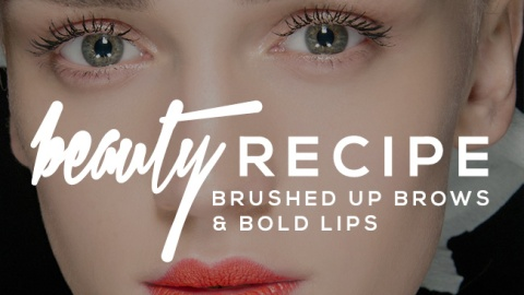 Beauty Recipe: Brushed Up Brows & Matte Lips | StyleCaster