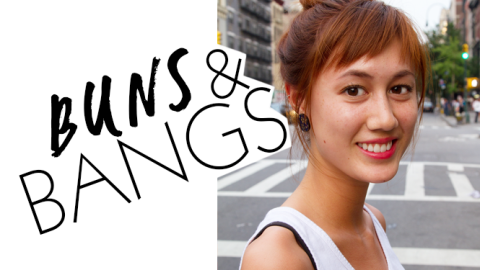 Beauty Street Style: The Bun and Bangs Combo Hairstyle | StyleCaster
