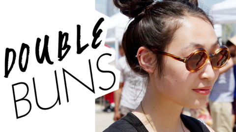 Beauty Street Style: Beat the Heat with These Double Buns | StyleCaster