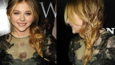 How to Get Chloe Moretz's Romantic Braided Hairstyle | StyleCaster