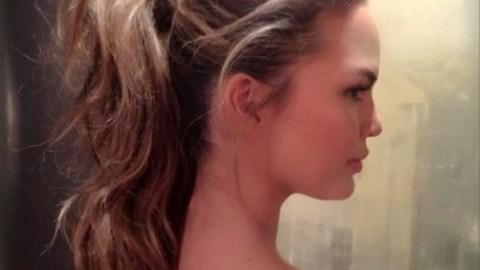Get Chrissy Teigen's High Ponytail | StyleCaster