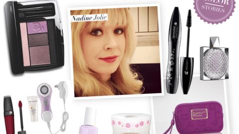Color Stories: Beauty Expert Nadine Jolie Shows Her Love For Plum Splendor | StyleCaster
