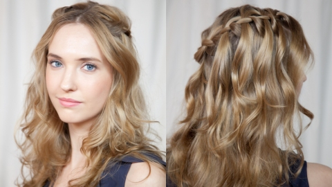How to do a Waterfall Braid in Under 5 Minutes | StyleCaster