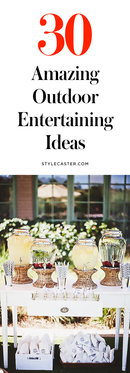 30 DIY Outdoor Entertaining Ideas for All Your Summer Parties | @stylecaster