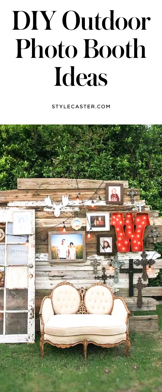 31 DIY outdoor photo booth backdrop ideas for weddings, summer parties, and backyard entertaining | @stylecaster