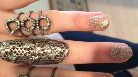 Get Emmy Rossum's Lace Punk Nail Art From the Met Gala | StyleCaster